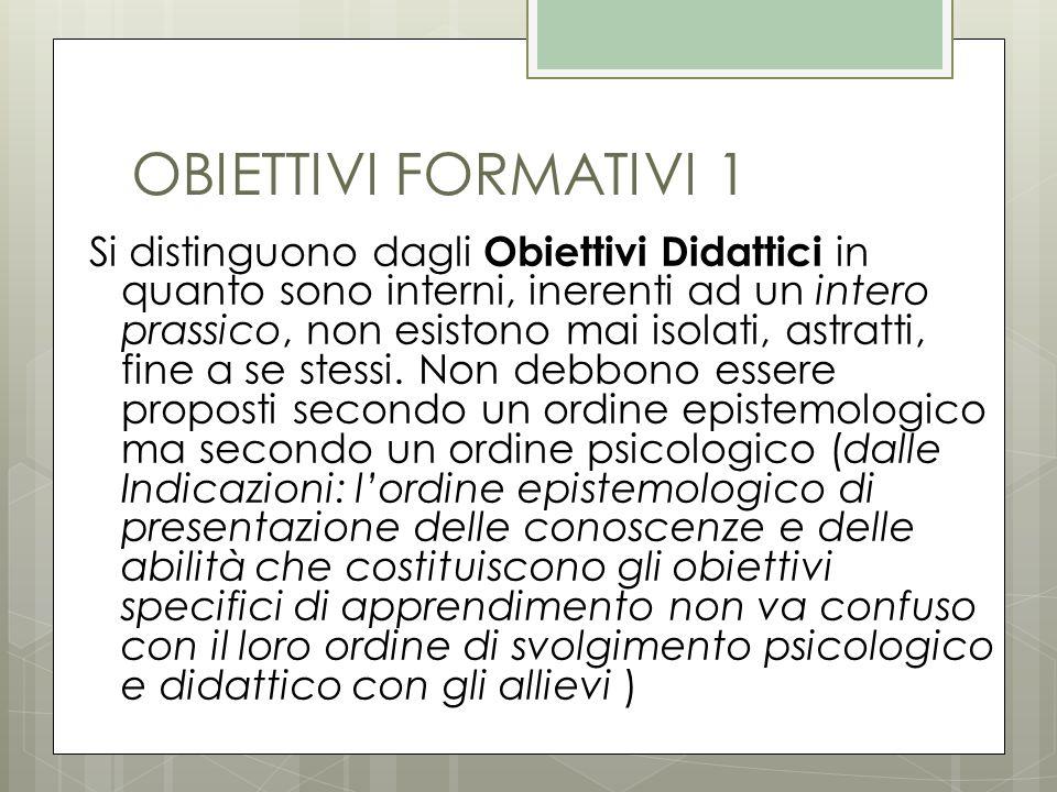 OBIETTIVI FORMATIVI 1