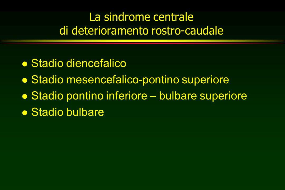 La sindrome centrale di deterioramento rostro-caudale