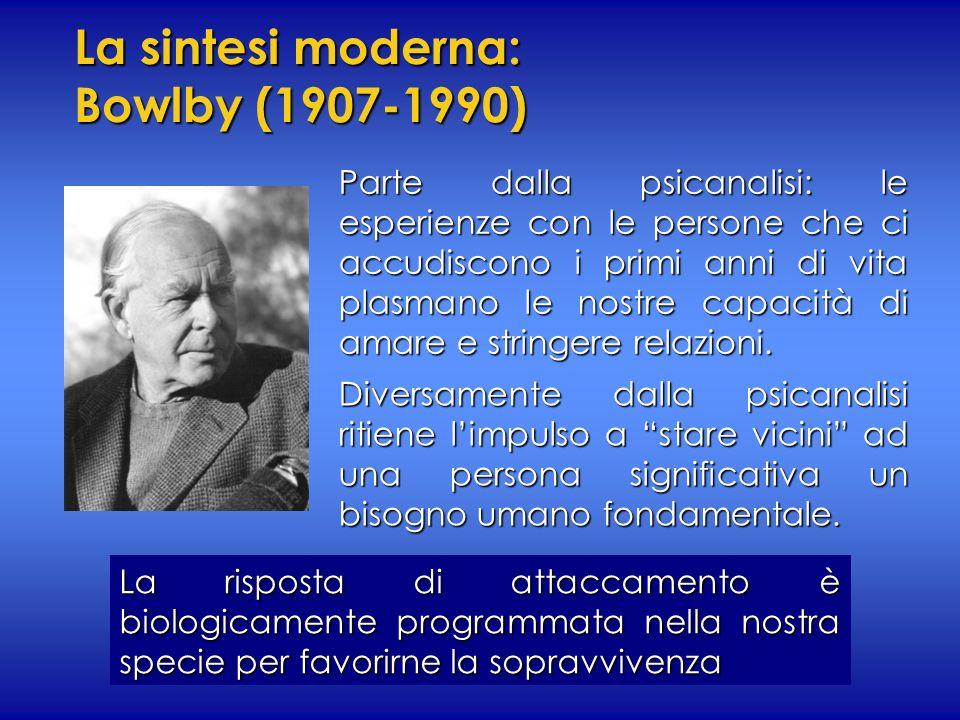 La sintesi moderna: Bowlby (1907-1990)
