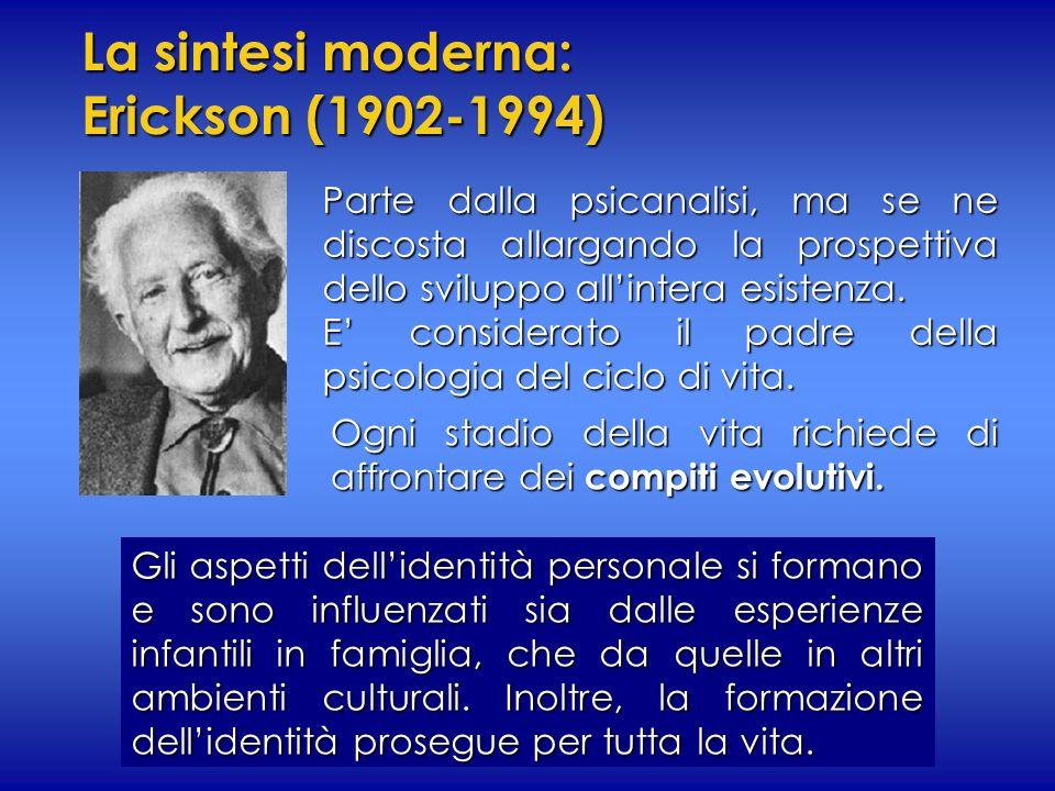 La sintesi moderna: Erickson (1902-1994)