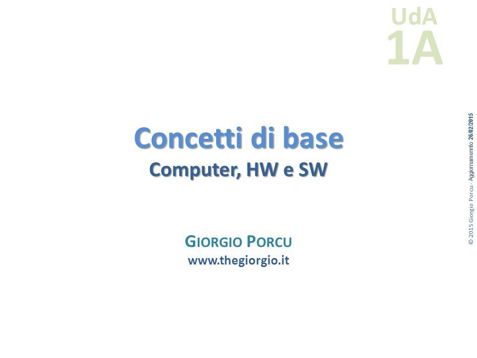 Concetti di base Computer, HW e SW