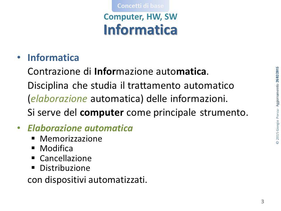 Informatica con dispositivi automatizzati. Informatica