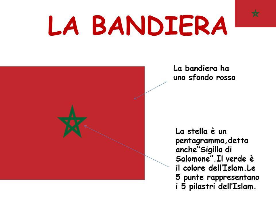 LA BANDIERA La bandiera ha uno sfondo rosso