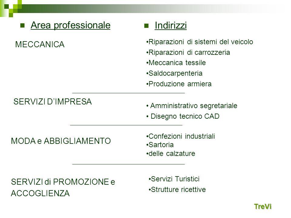 Area professionale Indirizzi MECCANICA SERVIZI D'IMPRESA