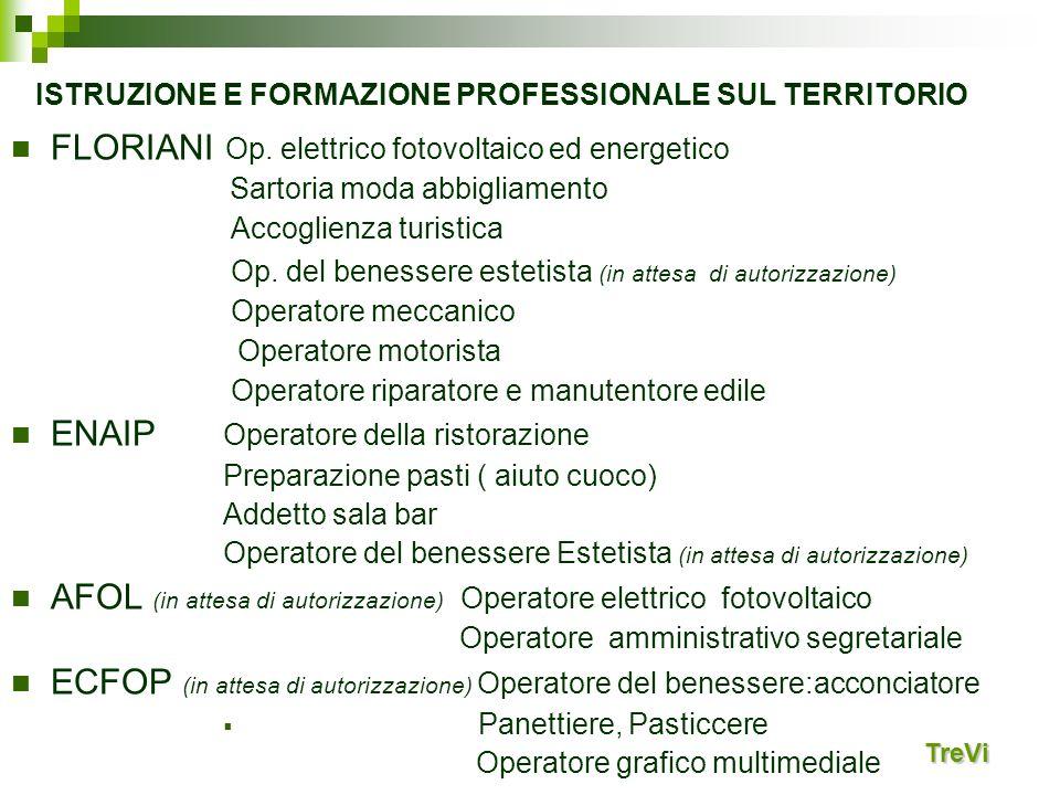 ISTRUZIONE E FORMAZIONE PROFESSIONALE SUL TERRITORIO