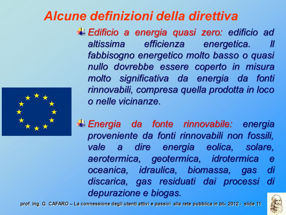 Alcune definizioni della direttiva