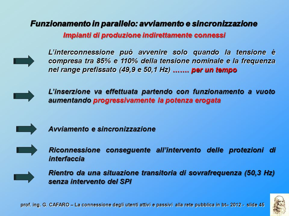 Funzionamento in parallelo: avviamento e sincronizzazione