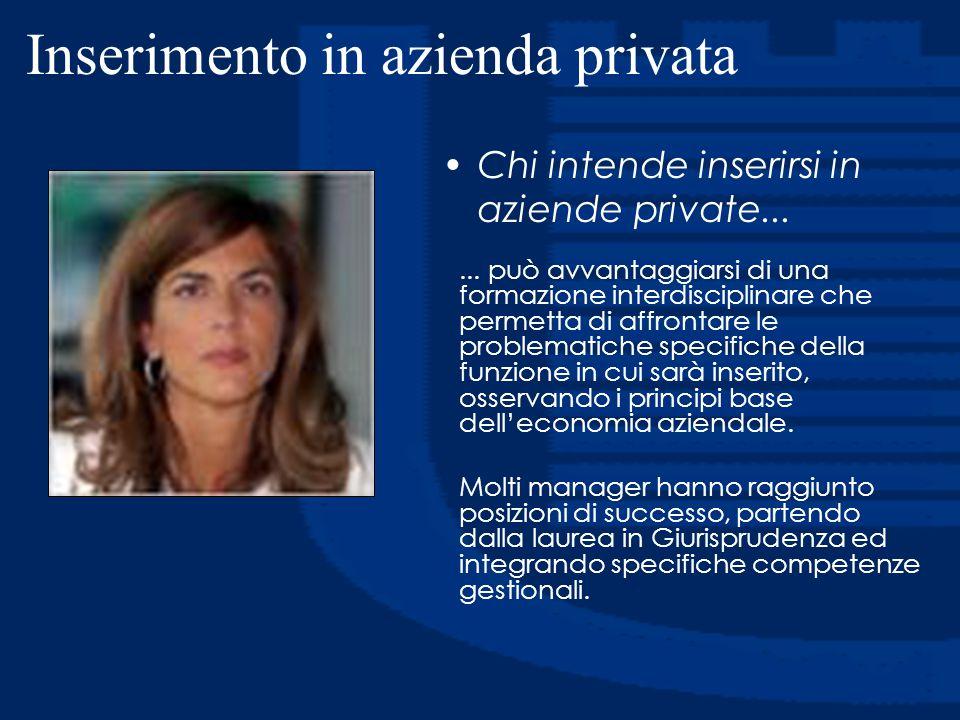 Inserimento in azienda privata