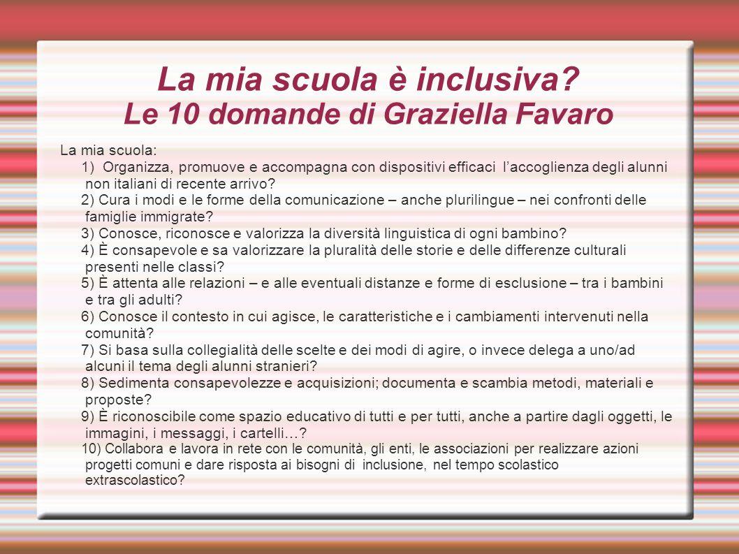 La mia scuola è inclusiva Le 10 domande di Graziella Favaro