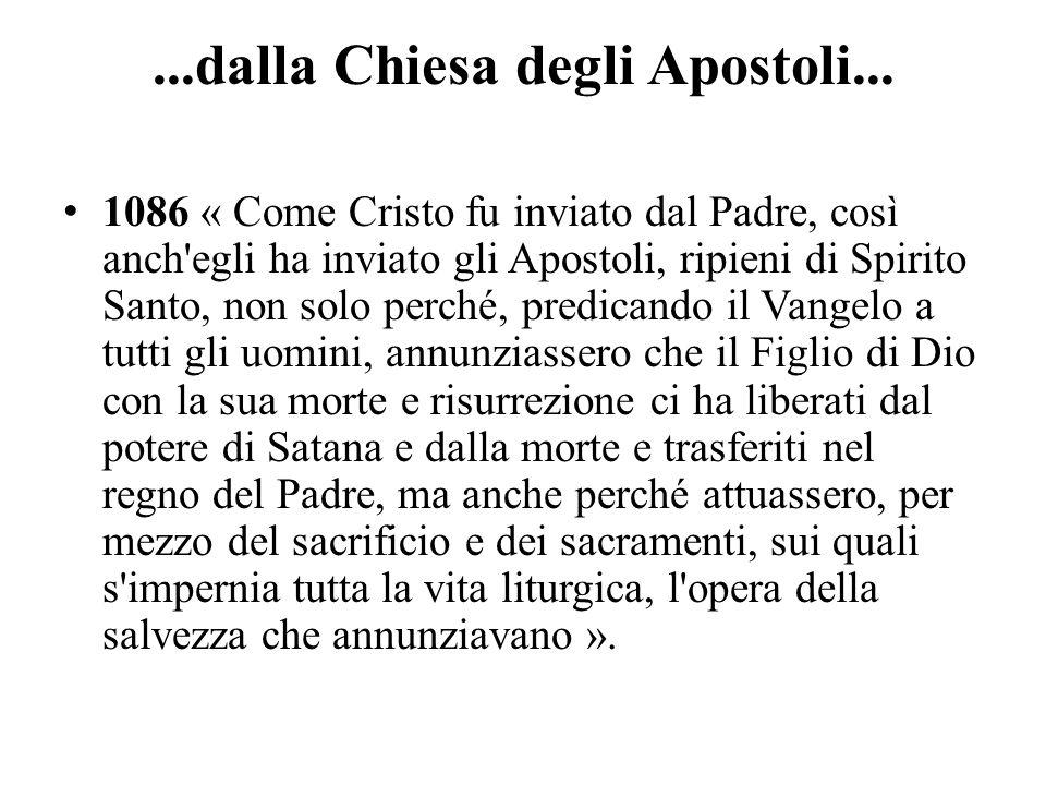 ...dalla Chiesa degli Apostoli...