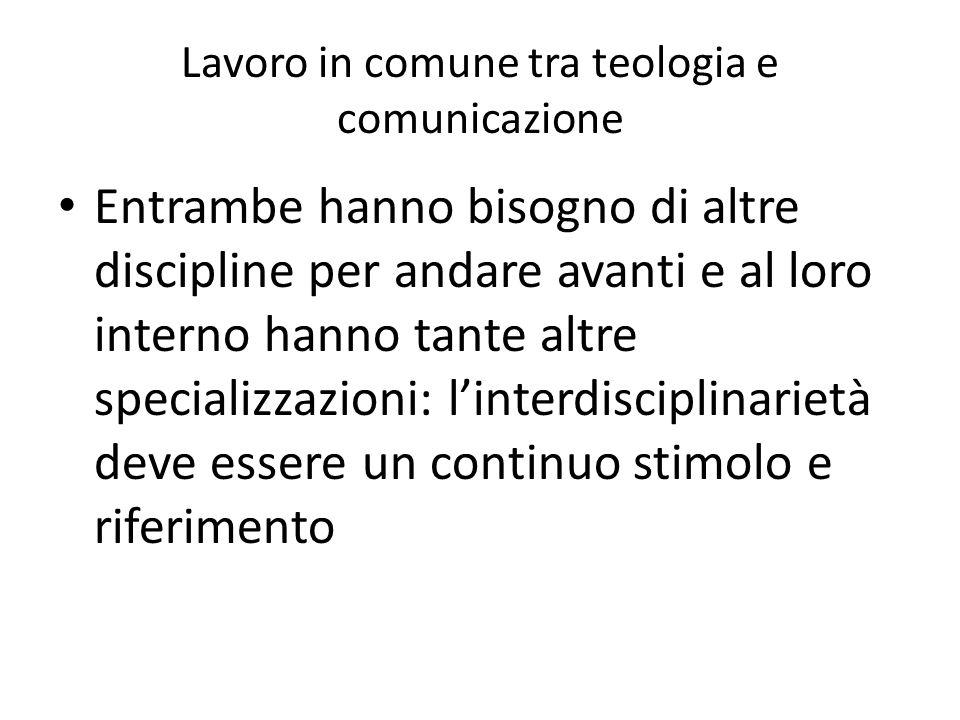 Lavoro in comune tra teologia e comunicazione