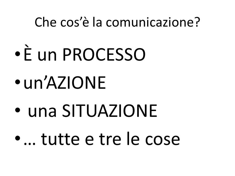 Che cos'è la comunicazione
