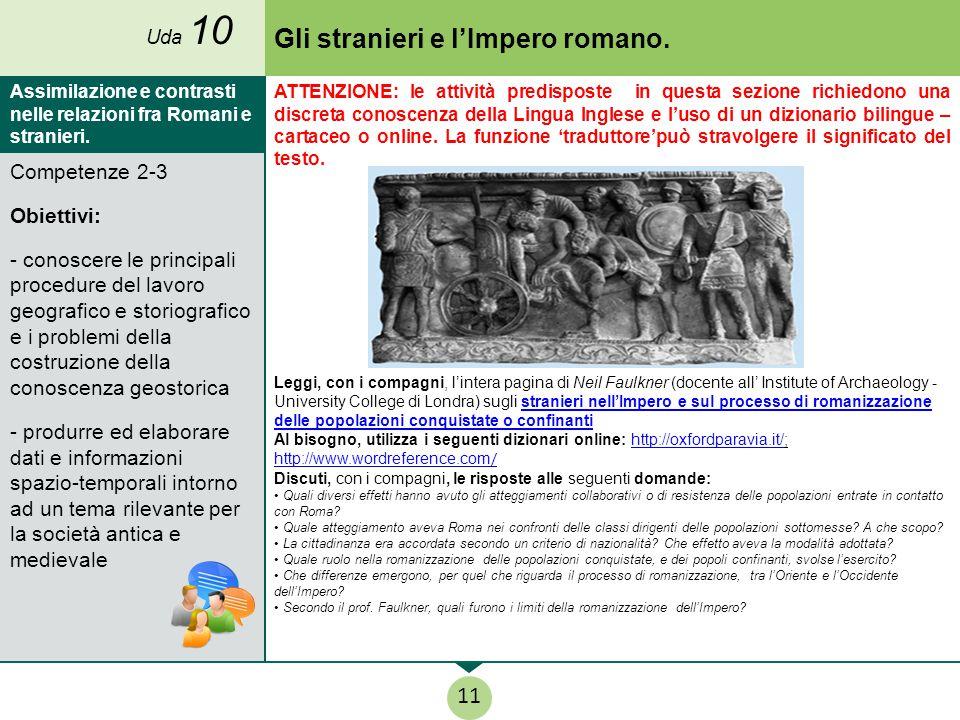 Gli stranieri e l'Impero romano.