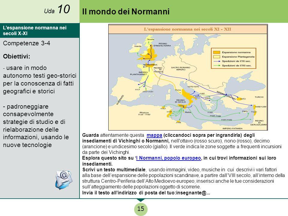 Il mondo dei Normanni 15 Competenze 3-4 Obiettivi: