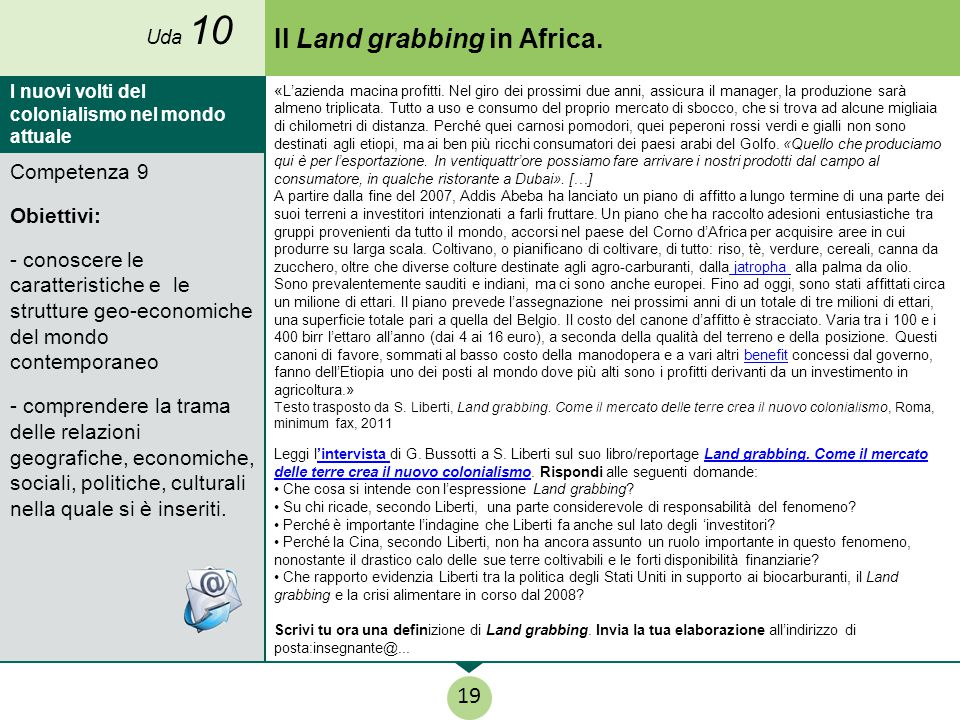 Il Land grabbing in Africa.
