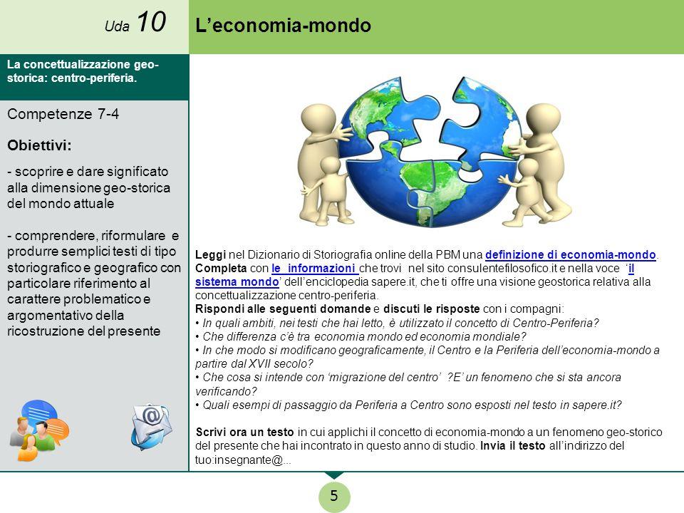 L'economia-mondo 5 Competenze 7-4 Obiettivi: Uda 10