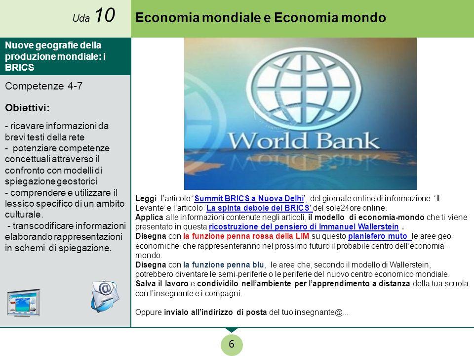 Economia mondiale e Economia mondo