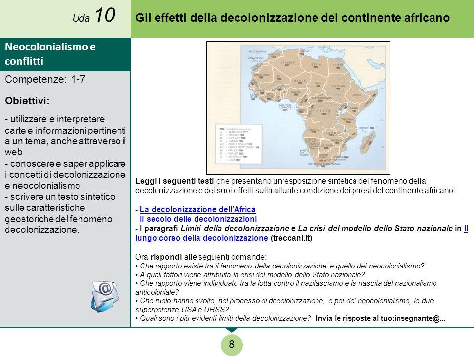 Gli effetti della decolonizzazione del continente africano