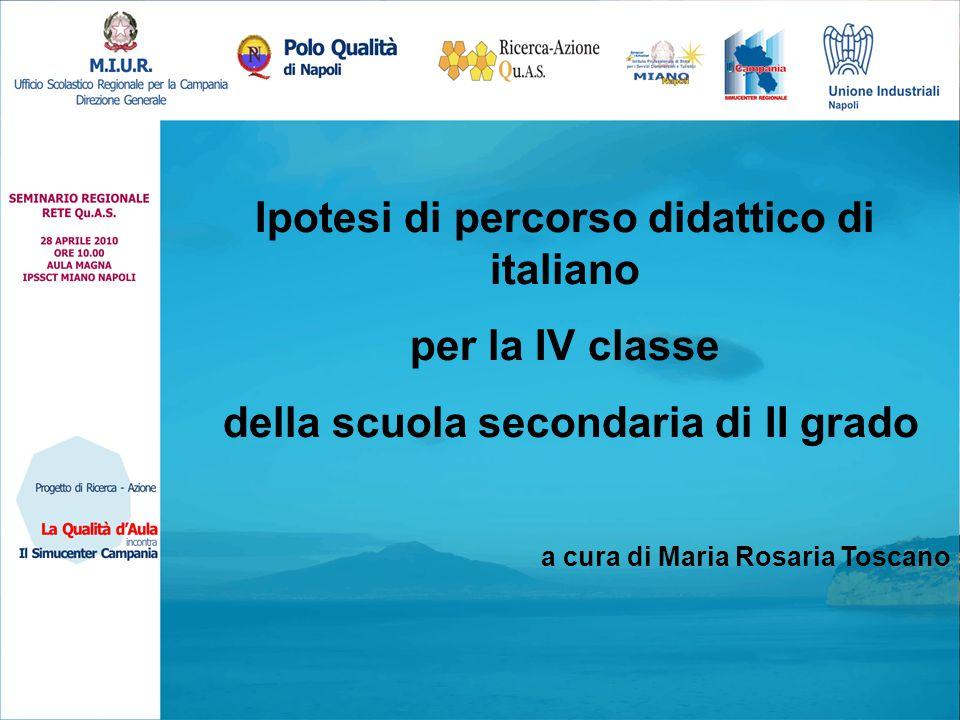 Ipotesi di percorso didattico di italiano per la IV classe