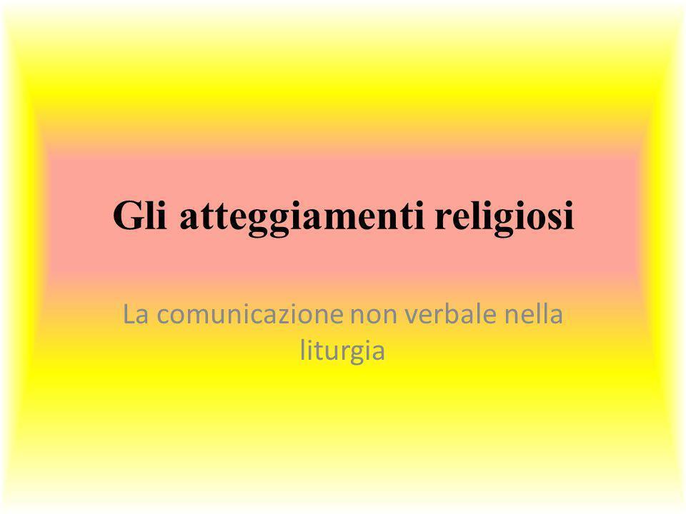 Gli atteggiamenti religiosi
