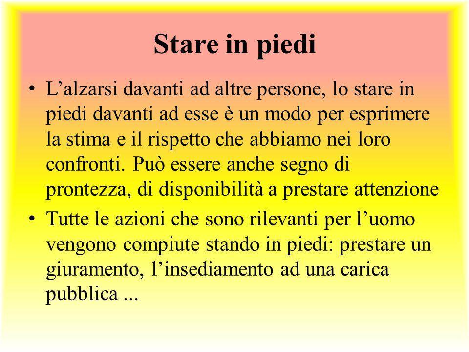 Stare in piedi