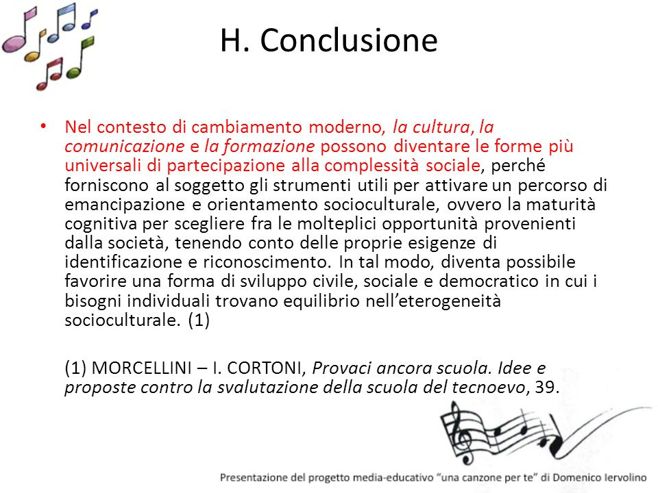 H. Conclusione