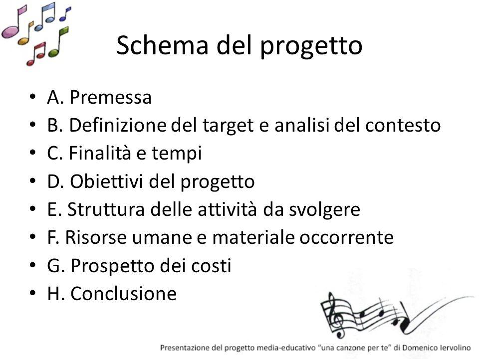 Schema del progetto A. Premessa