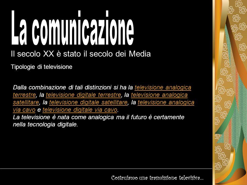La comunicazione Il secolo XX è stato il secolo dei Media