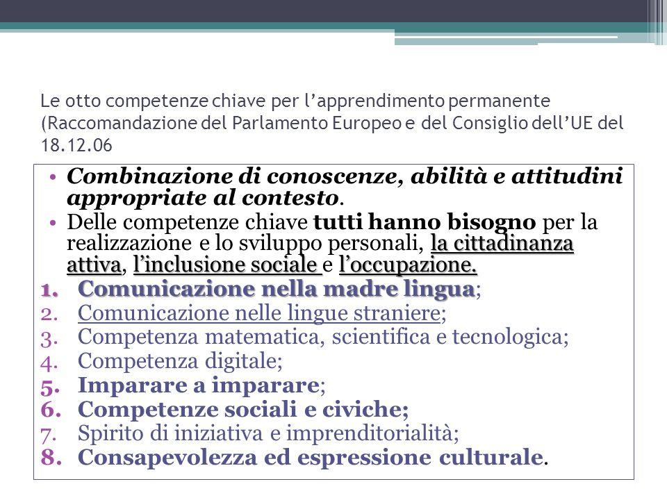 Comunicazione nella madre lingua;