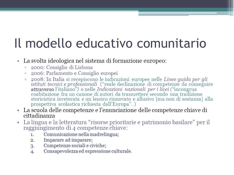 Il modello educativo comunitario