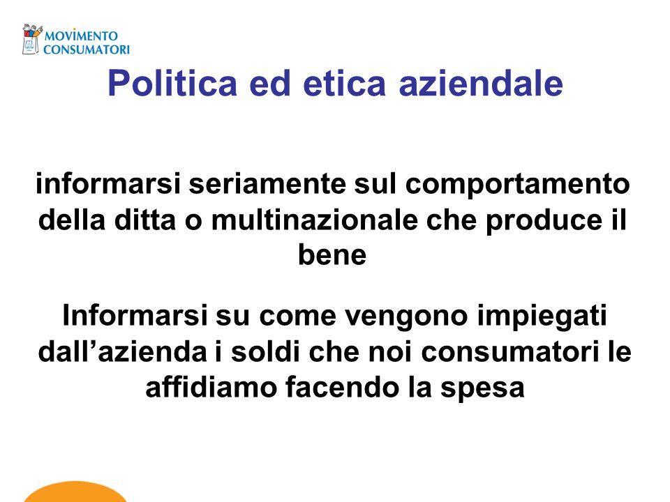 Politica ed etica aziendale