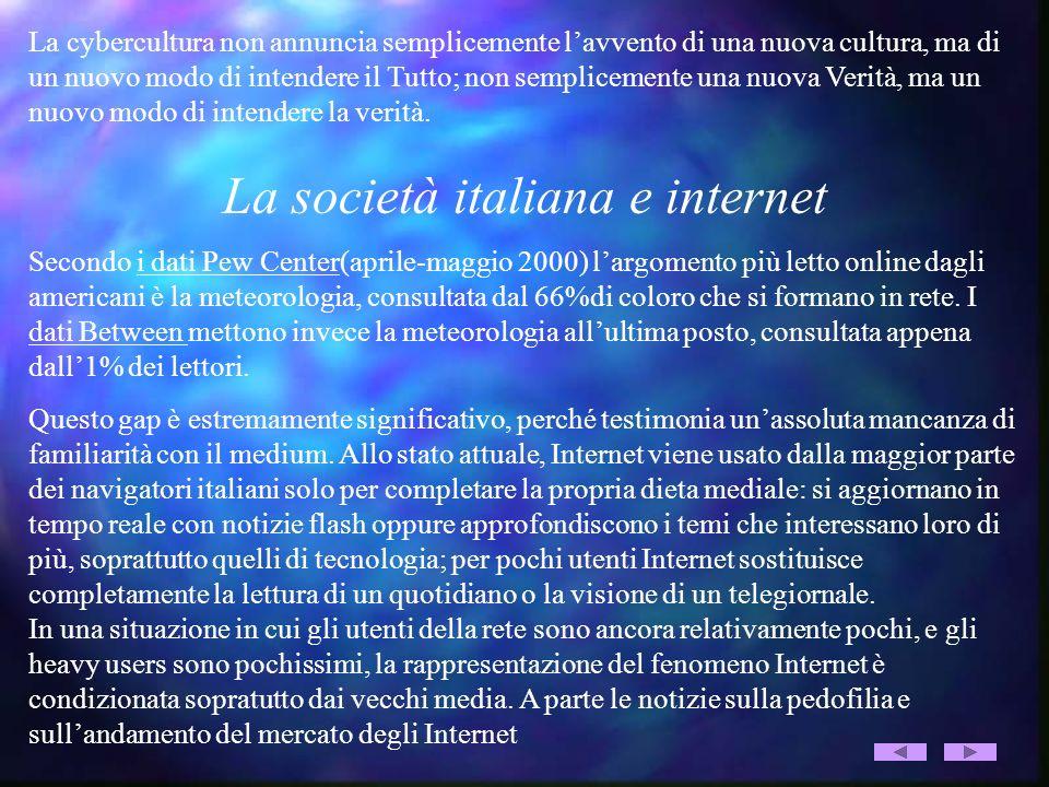 La società italiana e internet