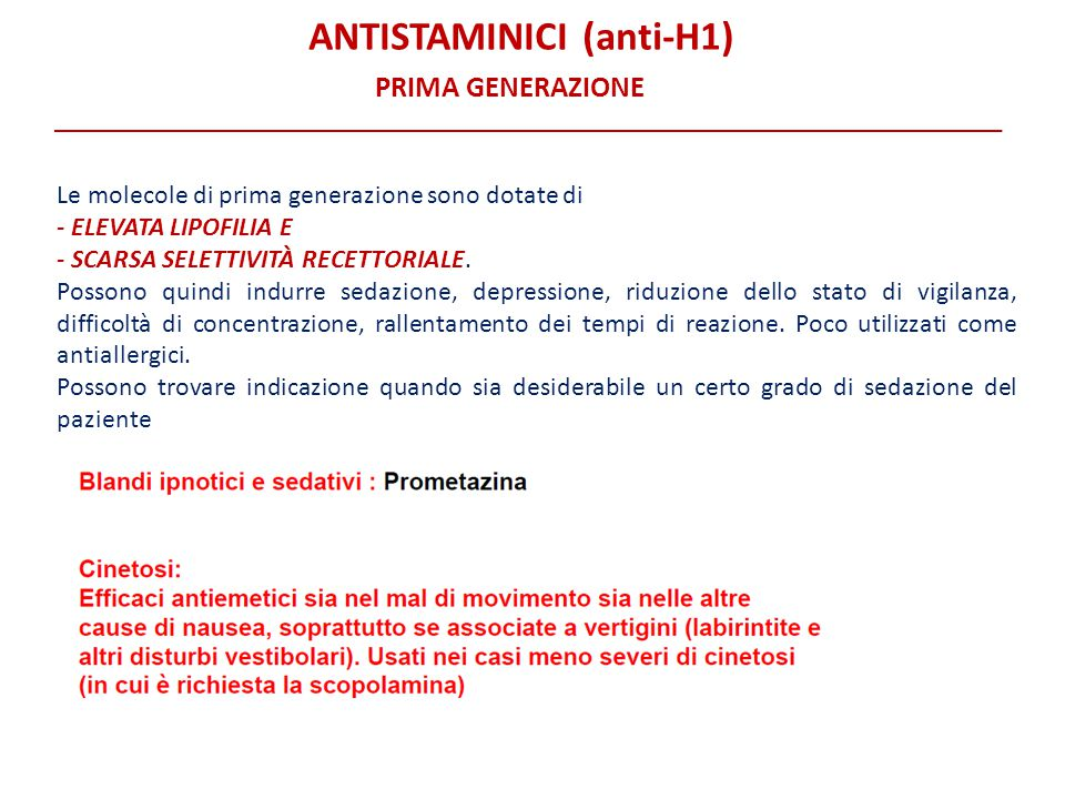 ANTISTAMINICI (anti-H1)