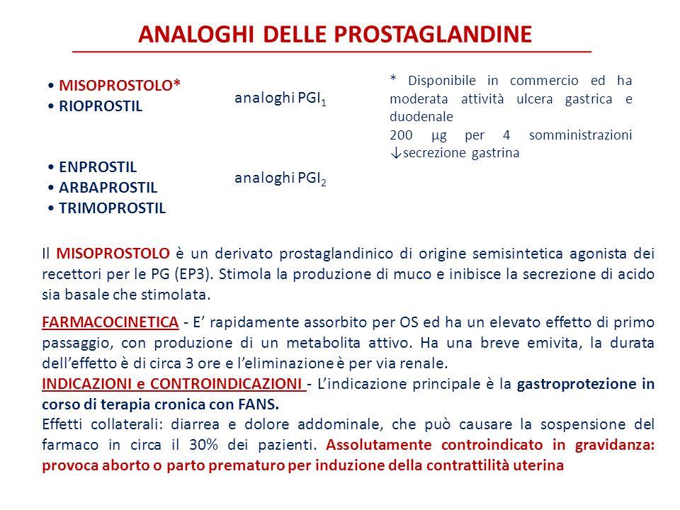 ANALOGHI DELLE PROSTAGLANDINE