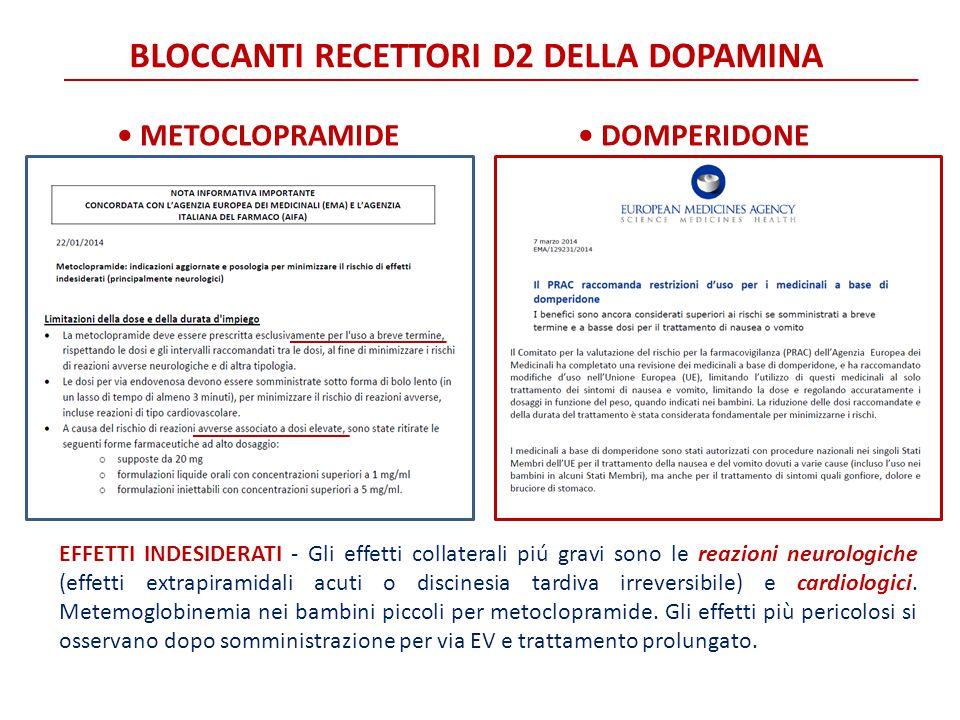 BLOCCANTI RECETTORI D2 DELLA DOPAMINA