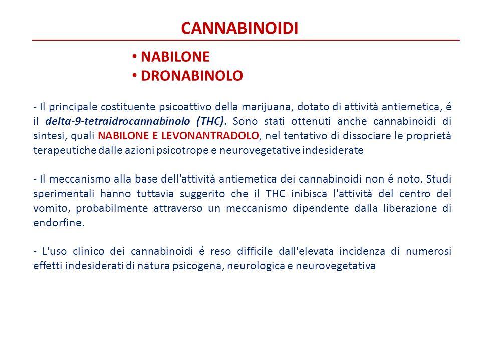 CANNABINOIDI NABILONE DRONABINOLO