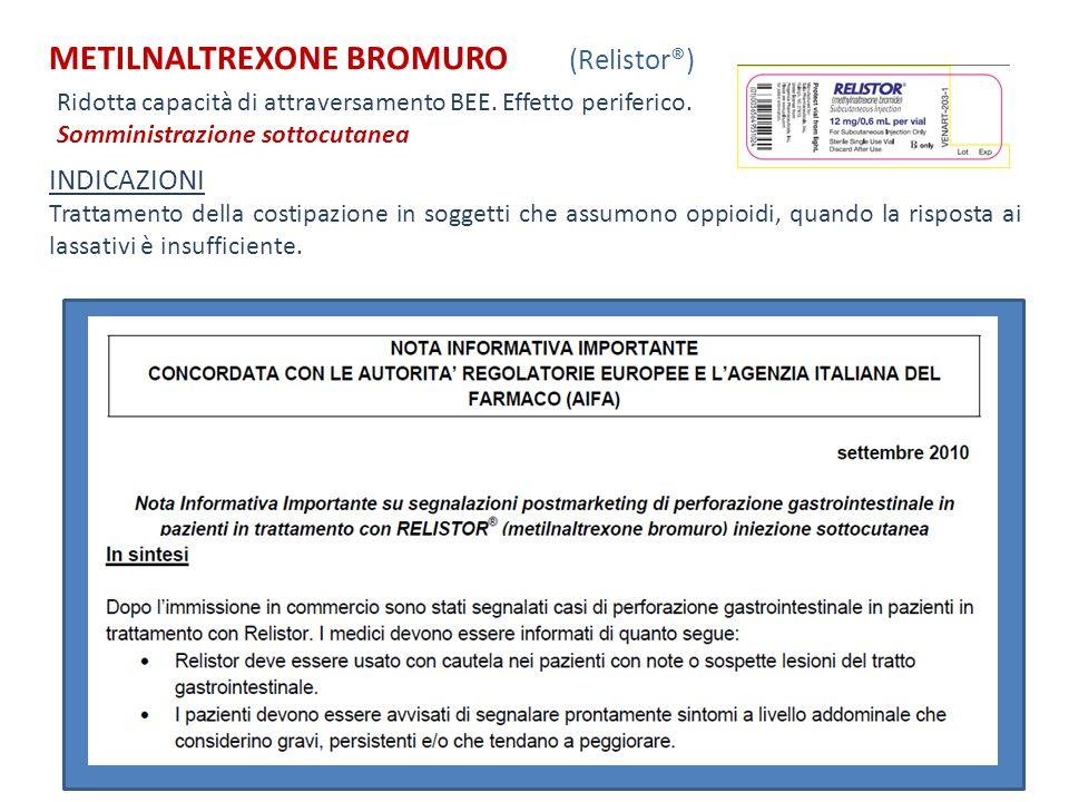 METILNALTREXONE BROMURO (Relistor®)