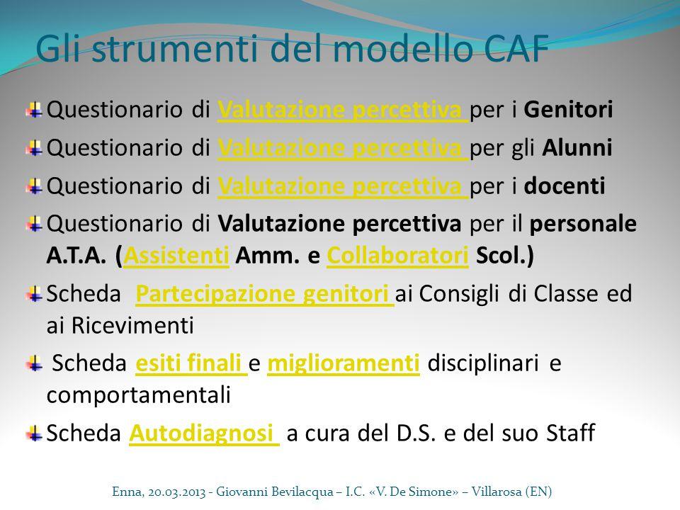 Gli strumenti del modello CAF