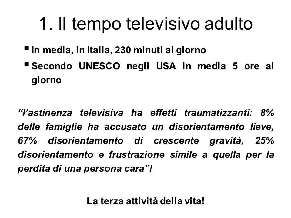 1. Il tempo televisivo adulto