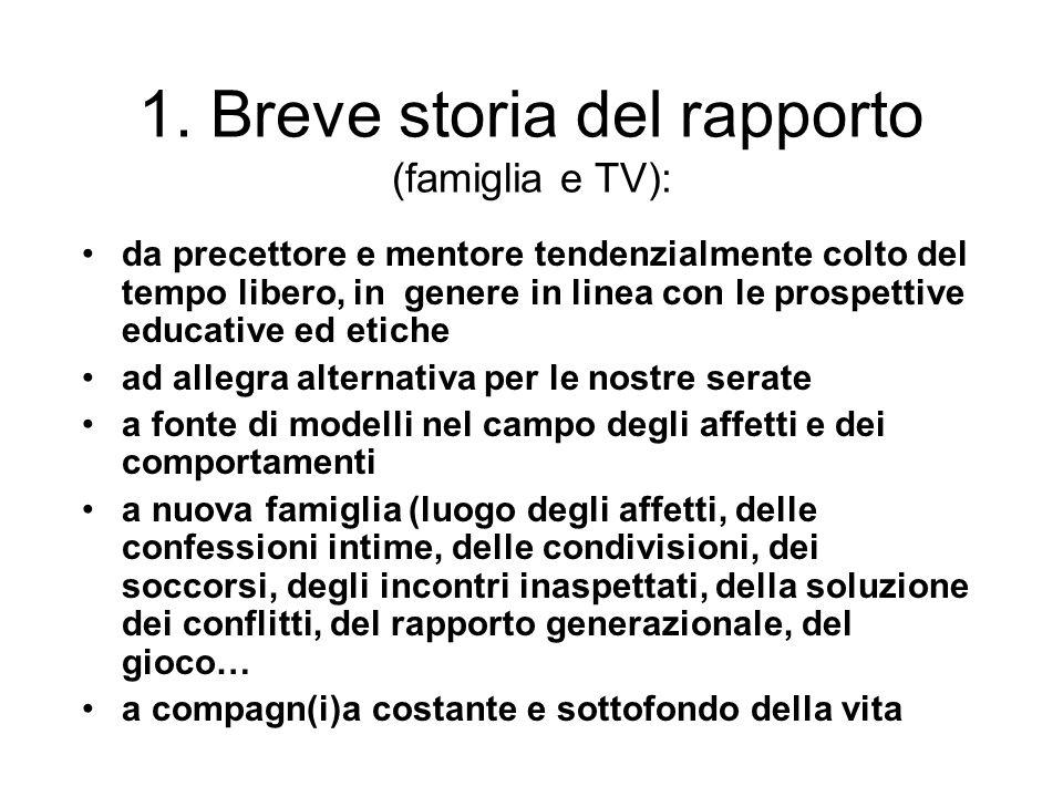 1. Breve storia del rapporto (famiglia e TV):