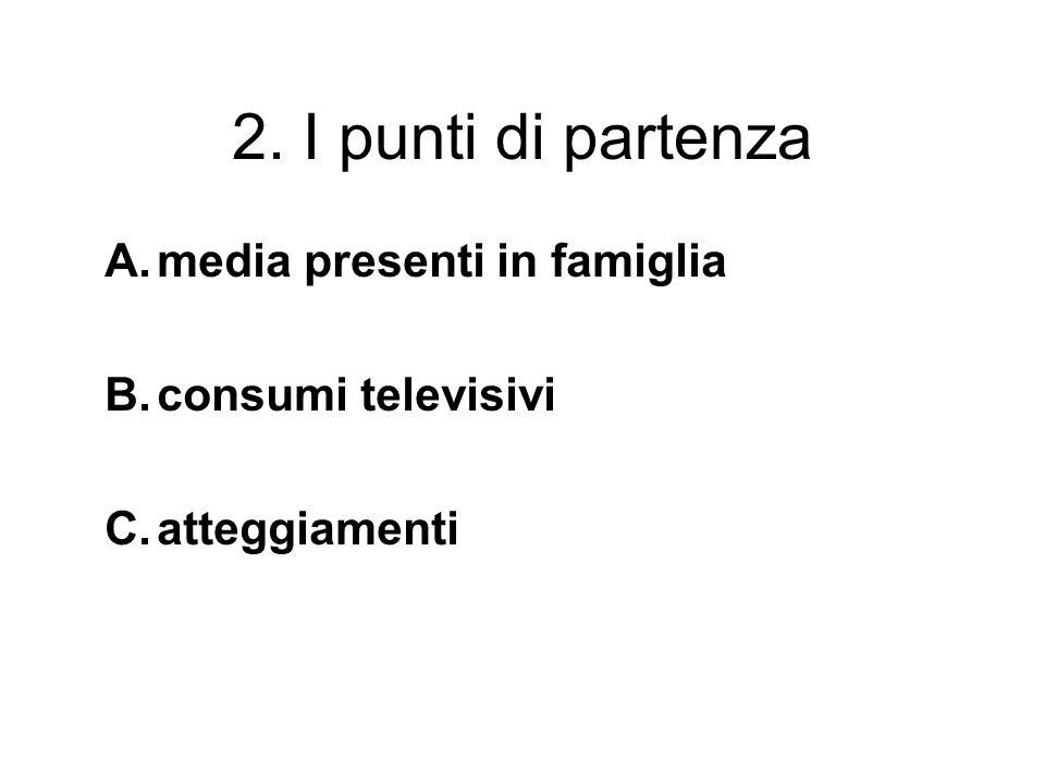2. I punti di partenza media presenti in famiglia consumi televisivi