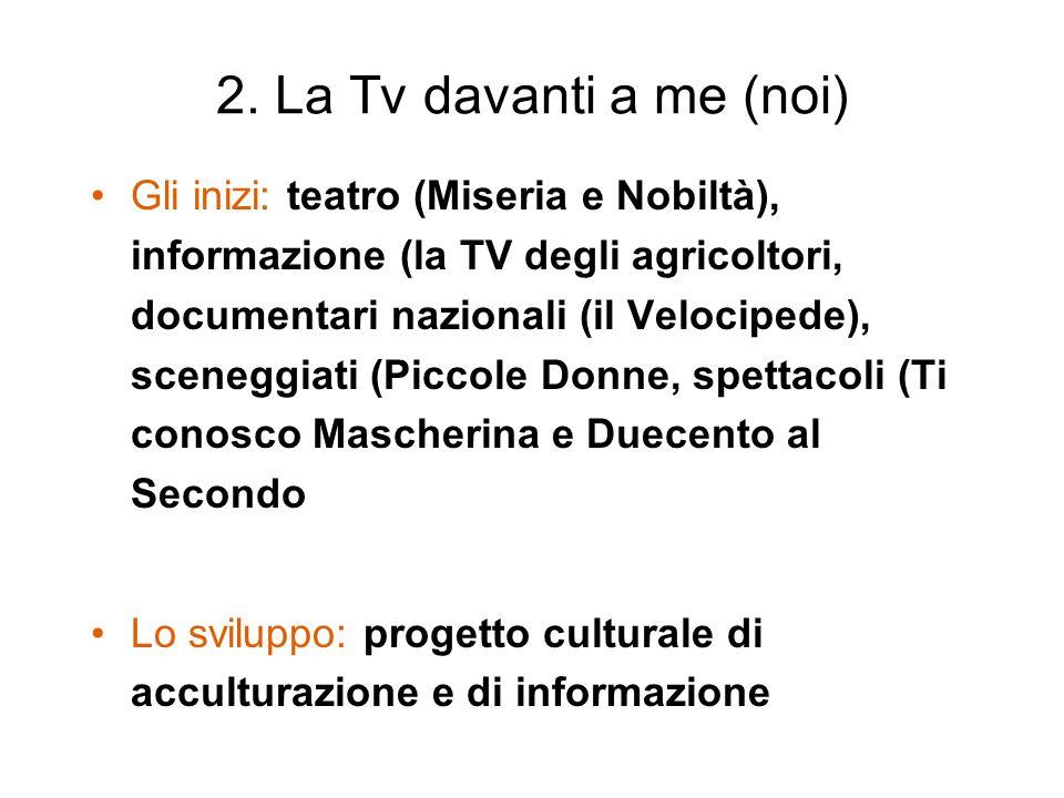 2. La Tv davanti a me (noi)