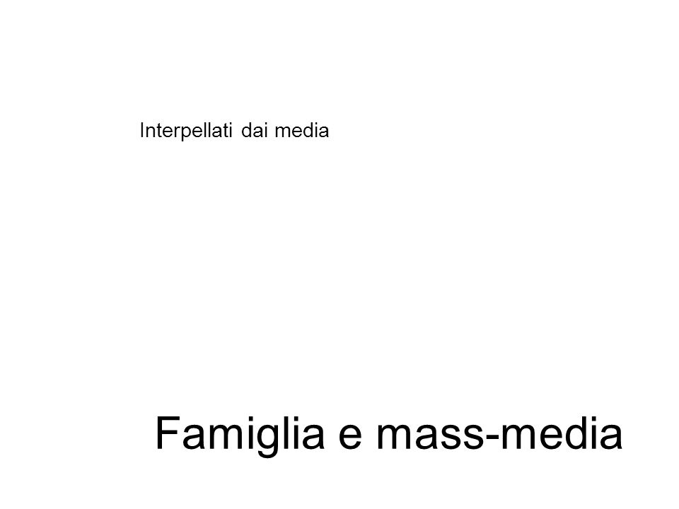 Interpellati dai media