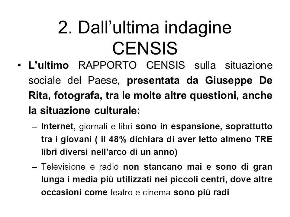 2. Dall'ultima indagine CENSIS