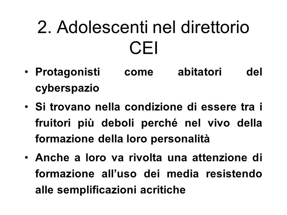 2. Adolescenti nel direttorio CEI