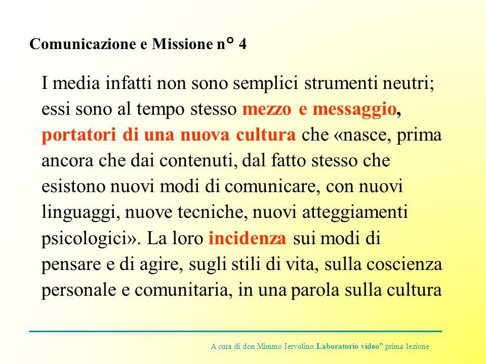 Comunicazione e Missione n° 4