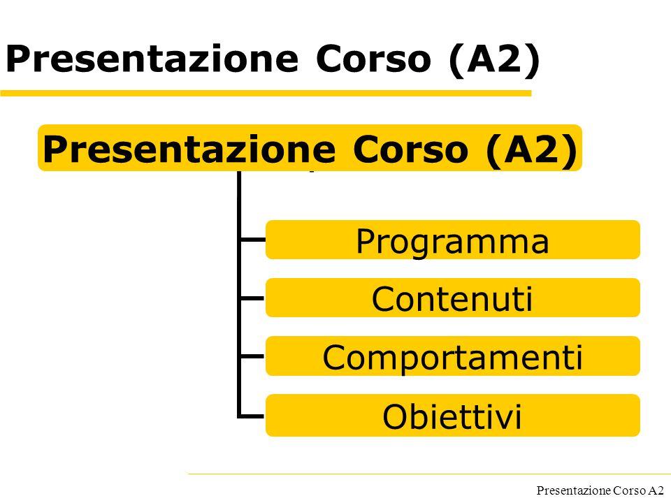 Presentazione Corso (A2)