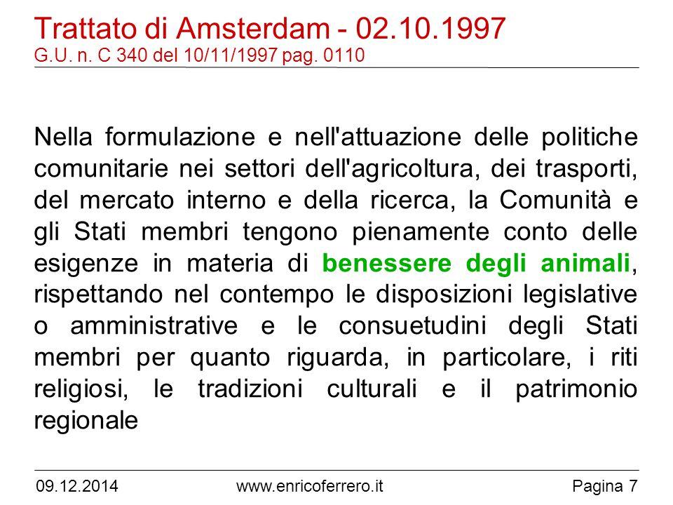 Trattato di Amsterdam - 02. 10. 1997 G. U. n. C 340 del 10/11/1997 pag