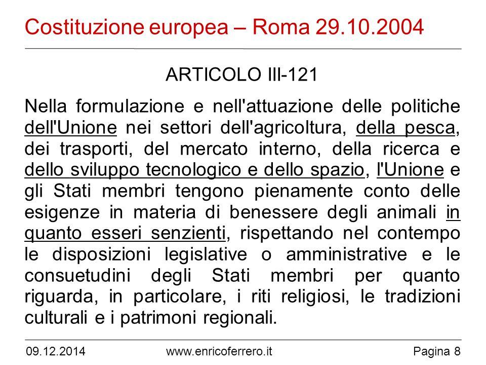 Costituzione europea – Roma 29.10.2004