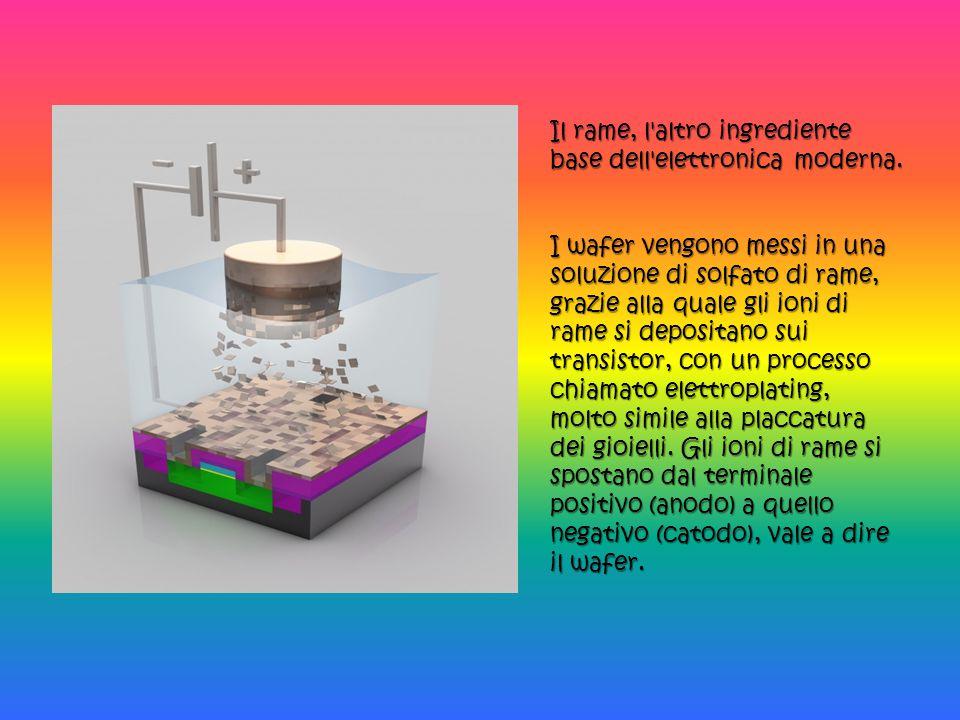 Il rame, l altro ingrediente base dell elettronica moderna.